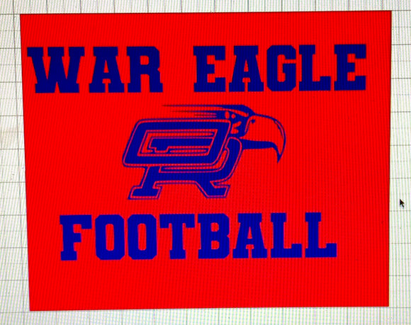 Youth Oak Ridge War Eagle Block Letters