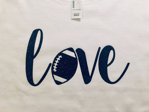 Youth Love Football Tee