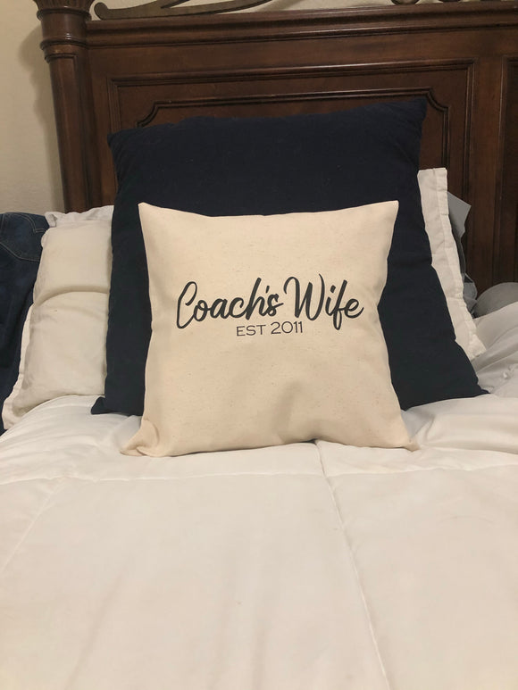 Coach's Wife Pillow Cover