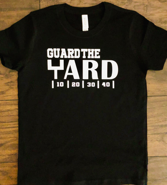 Guard The Yard Block Letter Shirt