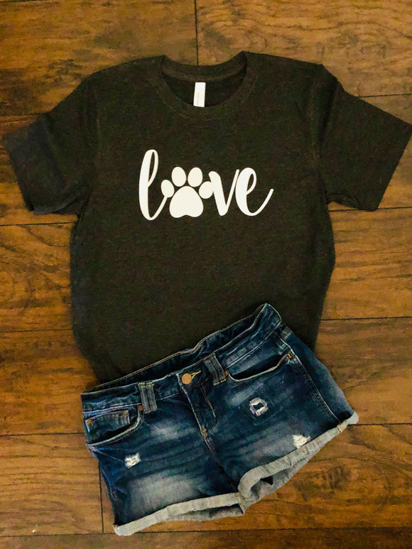 Paw Print Love Shirt