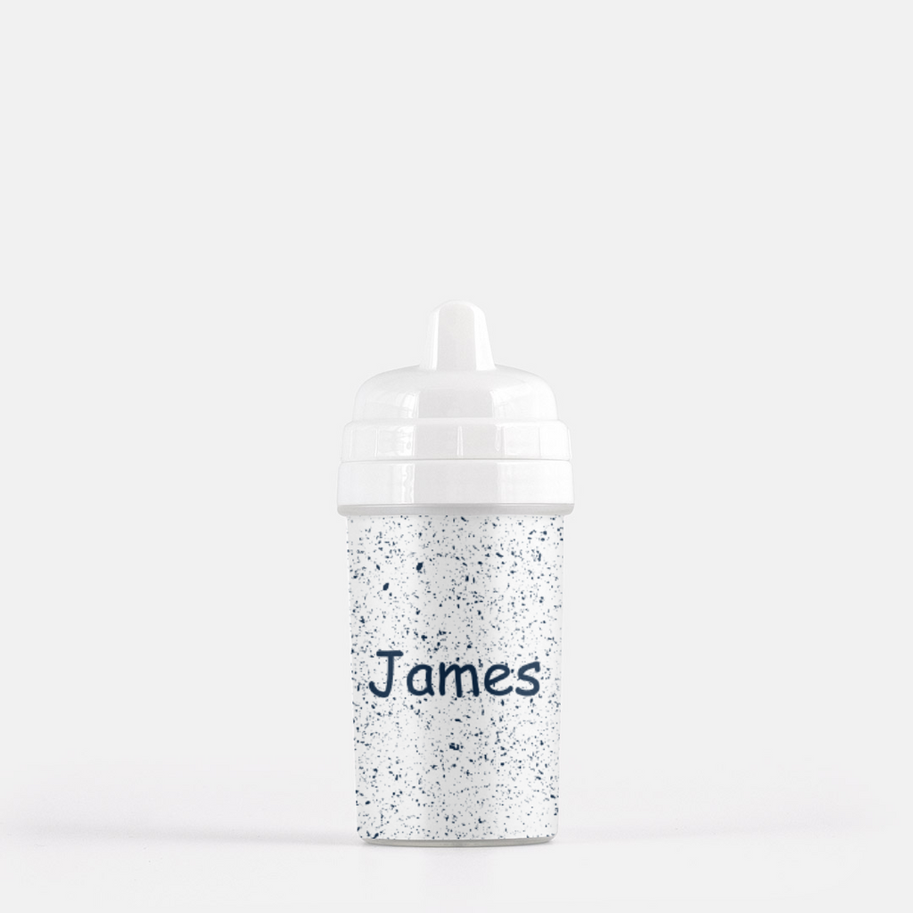 BLUE SPECKLES |  Personalized Sippy Cup