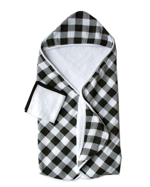 JACK PLAID | Hooded Towel + Washcloth Set