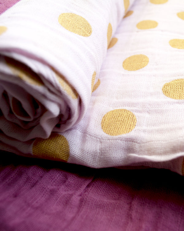 ROSE | Muslin Swaddle Blanket Set