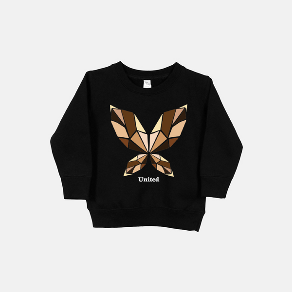 UNITED BUTTERFLY (bold text) | Toddler Sweatshirt