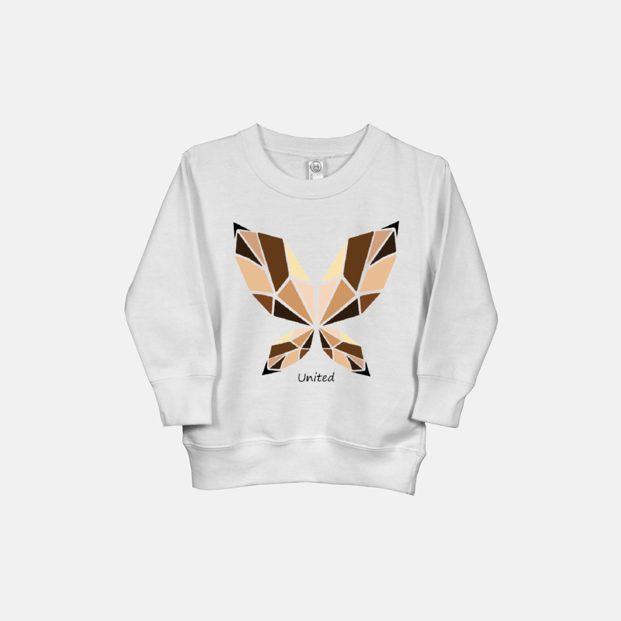 UNITED BUTTERFLY (script text) | Toddler Sweatshirt