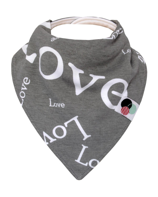 LOVE TEXT | Premium Plus Baby Bandana Bib