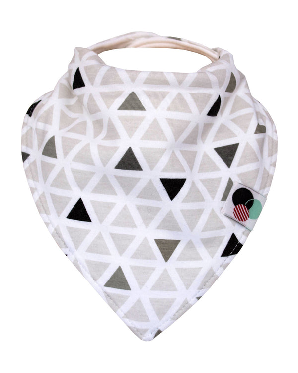 TRIANGLES | Premium Plus Baby Bandana Bib