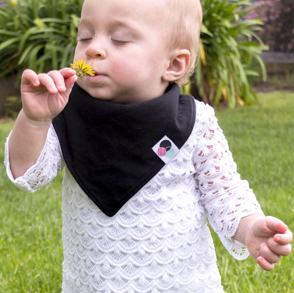 SOLID COLOR | Premium Baby Bandana Bib (single)