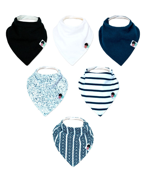 JAMES | Premium Baby Bandana Bibs (6-pack)