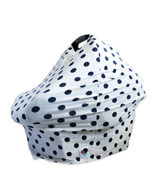 BLUE POLKA DOTS | Premium Multi-Use Cover