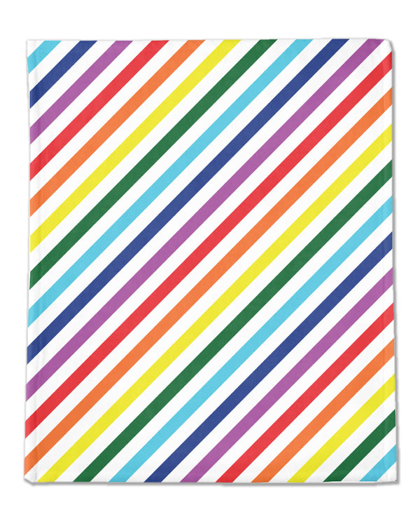 RAINBOW STRIPE | Minky Blanket