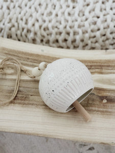 Ceramic bell wall hanging