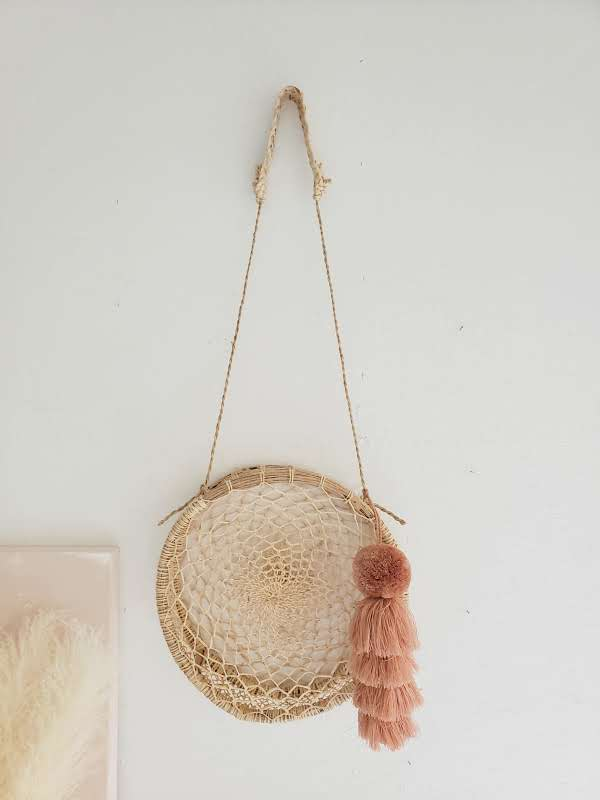 circle wall hanging basket