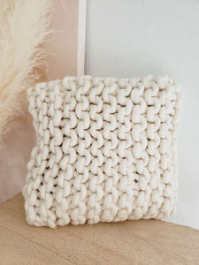 chunky knitted pillow