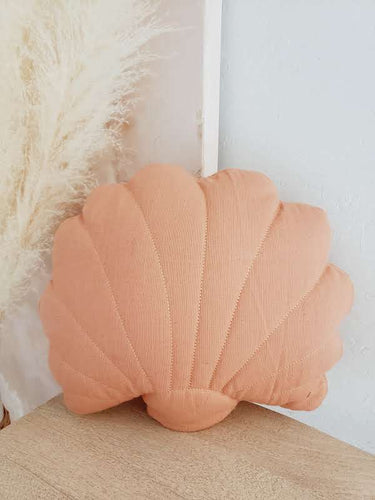 Shell pillow coral