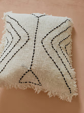 Load image into Gallery viewer, Fern fringe pillow