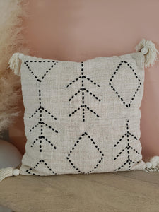 Fern tassel pillow