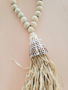 shell beaded tassel