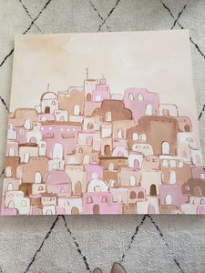 Santorini canvas painting