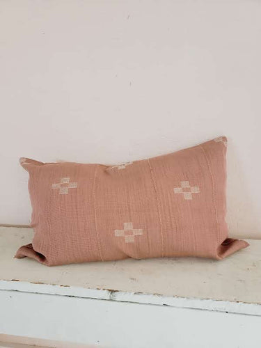 clay patterned pillow
