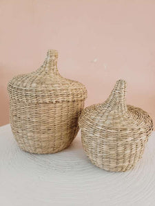 set of 2 baskets with lid