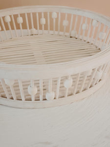 white bamboo baskets