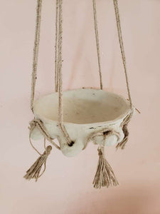 hanging bowl with tassels