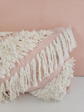 Load image into Gallery viewer, blush fringe pillow cover