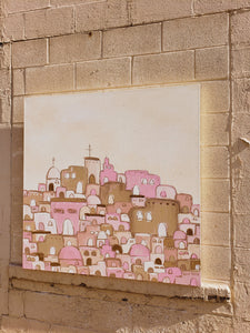 Santorini canvas painting 02.