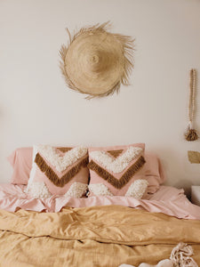 Tribe pillow cover blush and tan