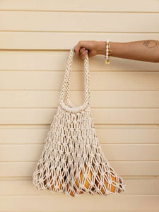 macrame farmers market bag