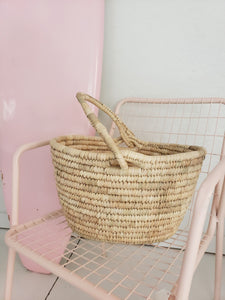 cute basket with handle