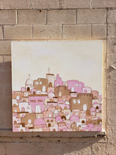 Load image into Gallery viewer, Santorini canvas painting 02.