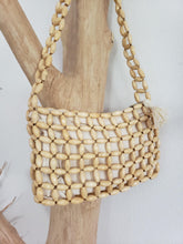 Load image into Gallery viewer, wood bead purse