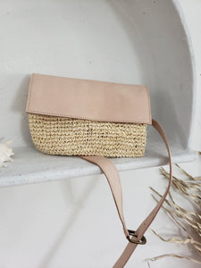 straw belt bag