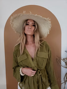 Safari sheer wrap top