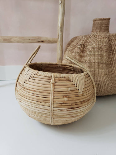 small cane basket