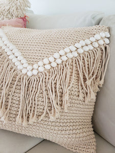 Kaliyah macrame pillow cover