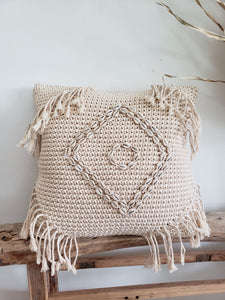 Luana macrame pillow cover