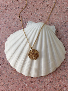 Vintage Saint Pendant Necklace
