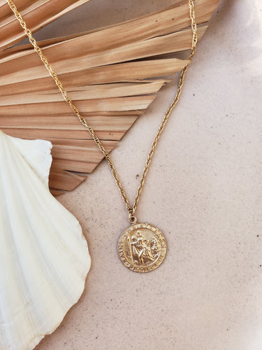Saint Christopher Medallion Necklace