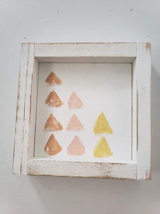 mini triangle print wooden sign