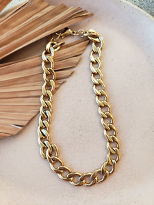 statement cable chain necklace