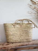 Load image into Gallery viewer, Santorini straw tote bag