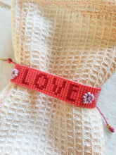 Load image into Gallery viewer, pink love beaded layering bracelet
