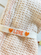 Load image into Gallery viewer, orange love layering bracelet