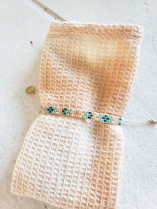 patterned beaded layering bracelet