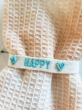 Load image into Gallery viewer, blue happy layering bracelet