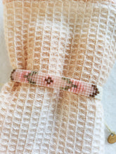 Load image into Gallery viewer, pink patterned beaded layering bracelet